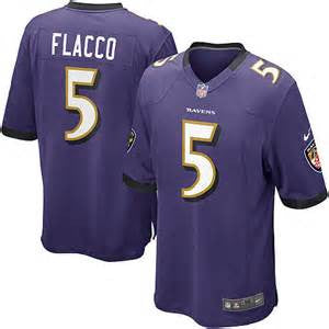Joe Flacco  Nike Elite  football jersey (purple) - Sports Nut Emporium