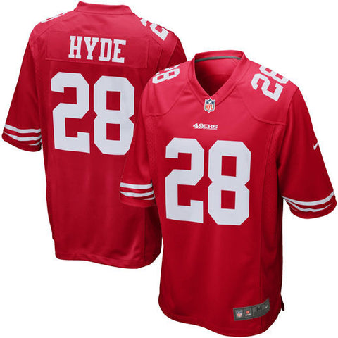 Carlos Hyde San Francisco 49ers Nike Red  Stitched Jersey - Sports Nut Emporium