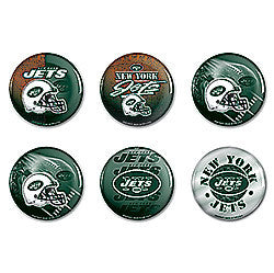 New York Jets 6 pack buttons - Sports Nut Emporium