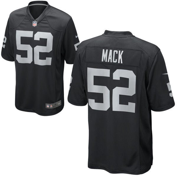 half off 674cd f498f Khalil Mack Oakland Raiders Men's Nike Black jersey
