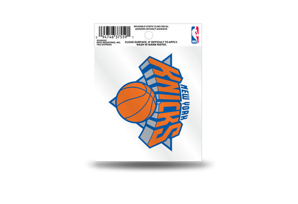 New York Knick static cling - Sports Nut Emporium