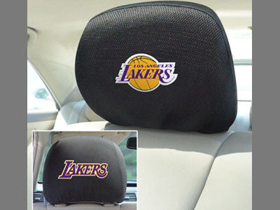 Los Angeles Lakers head rest cover - Sports Nut Emporium