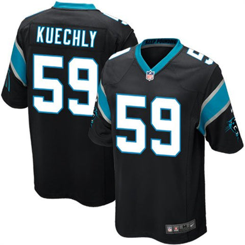 Luke Kuechly Carolina Panthers Black Elite Jersey - Sports Nut Emporium