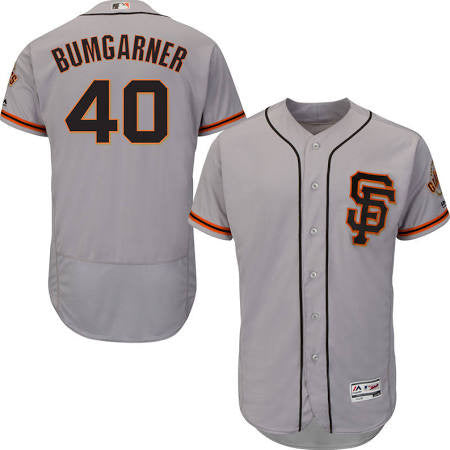 Madison Bumgarner San Fransisco Giants Grey flex base - Sports Nut Emporium