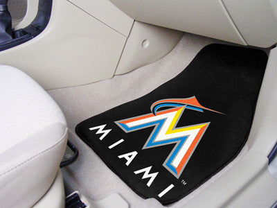 Miami Marlins carpet car mat - Sports Nut Emporium