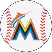 Miami Marlins baseball floor mat - Sports Nut Emporium