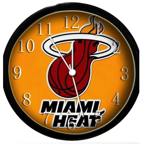 Miami Heat wall clock - Sports Nut Emporium