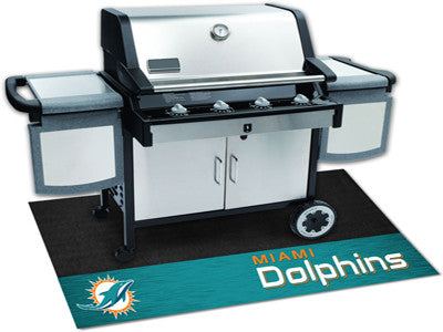 Miami Dolphins Barbeque Grill Mat - Sports Nut Emporium