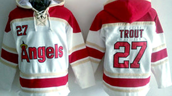 3218fc88f8d Mike Trout Los Angeles Angels pullover hoodie – Sports Nut Emporium
