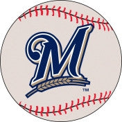Milwaukee Brewers baseball floor mat - Sports Nut Emporium