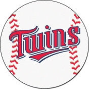 Minnesota Twins baseball floor mat - Sports Nut Emporium