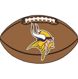 Minnesota Vikings football shaped mat - Sports Nut Emporium