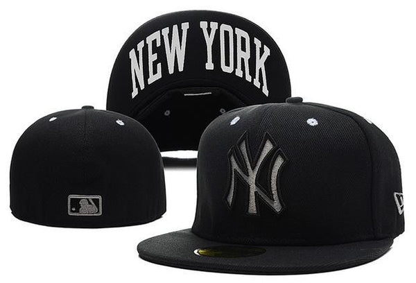 New York Yankees New Era 59 Fifty MLB  RETRO CLASSIC POP BLACK Fitted Hat - Sports Nut Emporium