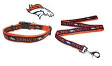 Denver Broncos leash collar and ID set - Sports Nut Emporium