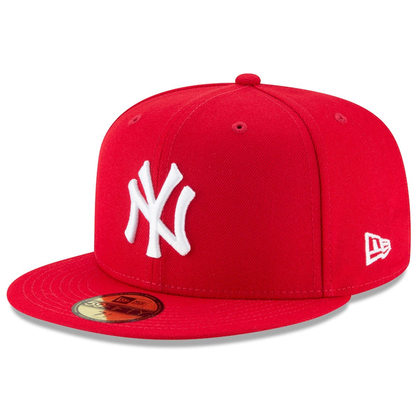 Men's New York Yankees New Era Scarlet Fashion Color Basic 59FIFTY Fitted Hat