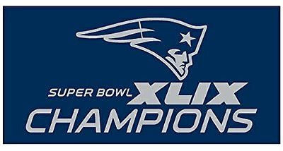 "NEW ENGLAND PATRIOTS XLIX SUPER BOWL CHAMPIONS 30""X60"" Beach, Bath,and  Shower Towel - Sports Nut Emporium"