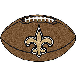 New Orleans Saints football shaped mat - Sports Nut Emporium
