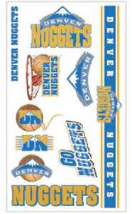 Denver Nuggets temporary tattoos - Sports Nut Emporium