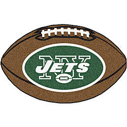 New York Jets football shaped rug - Sports Nut Emporium