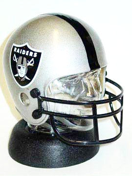 Oakland Raiders helmet bank - Sports Nut Emporium