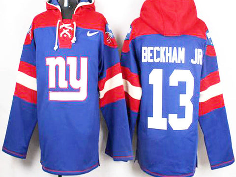 Odell Beckham Jr  New York Giants Royal Blue Player Pullover NFL Hoodie - Sports Nut Emporium
