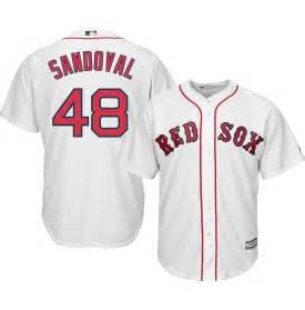 Pablo Sandoval Boston red Sox White Home jersey - Sports Nut Emporium