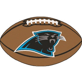 Carolina Panthers football shaped floor mat - Sports Nut Emporium