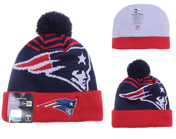 New England Patriots Logo Stitched Knit Beanies- (051) - Sports Nut Emporium