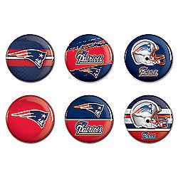 New England Patriots 6 Pack buttons - Sports Nut Emporium