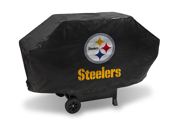 Pittsburgh Steelers Deluxe Barbaque Grill Cover - Sports Nut Emporium