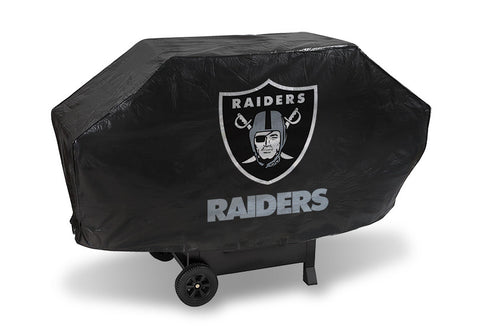 Oakland Raiders Deluxe Barbaque Grill Cover - Sports Nut Emporium