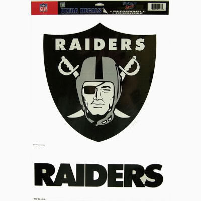 Oakland Raiders static cling - Sports Nut Emporium