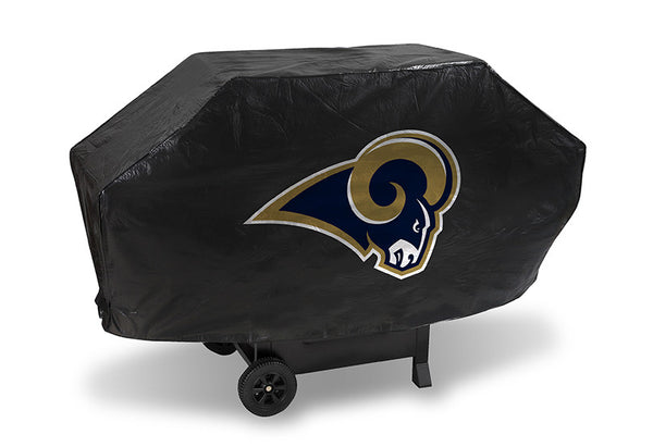 St Louis Rams Deluxe Barbaque Grill Cover - Sports Nut Emporium