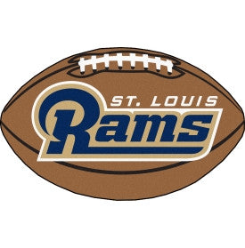 St Louis Rams football shaped floor mat - Sports Nut Emporium