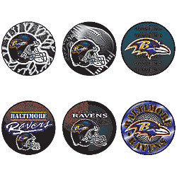 Baltimore Ravens 6 pack buttons - Sports Nut Emporium