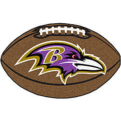 Baltimore Ravens football shaped mat - Sports Nut Emporium