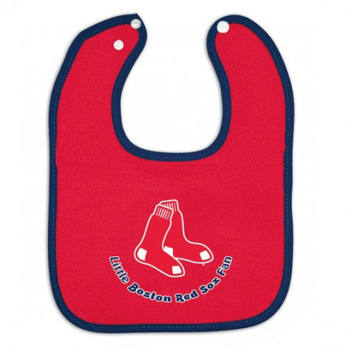 Boston Red Sox Colored Snap Closure  Baby Bib - Sports Nut Emporium