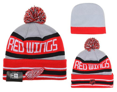 Detroit Red Wings Logo Stitched Knit Beanies 006 - Sports Nut Emporium