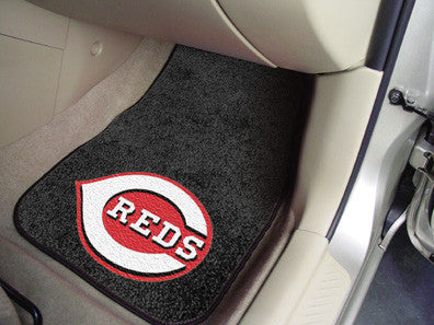 Cincinnati Reds carpet car mat - Sports Nut Emporium