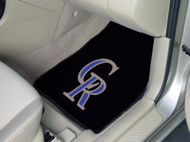 Colorado Rockies carpet car mat - Sports Nut Emporium