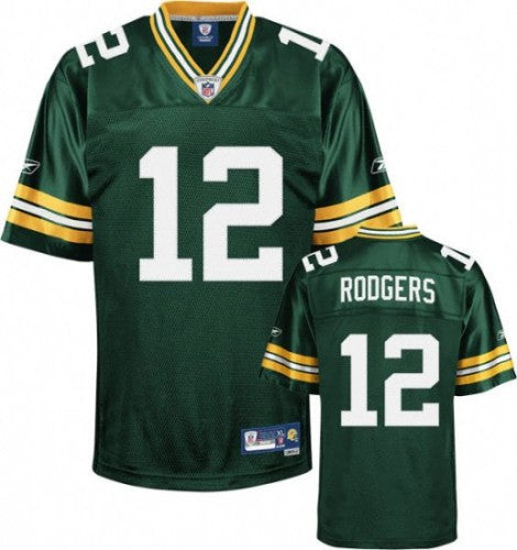 Aaron Rogers Nike Elite Green  Stitched NFL  football jersey - Sports Nut Emporium