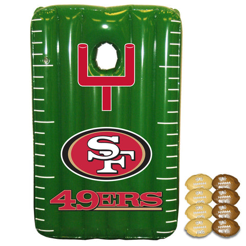 San Fransisco 49ers Inflateable toss Game - Sports Nut Emporium