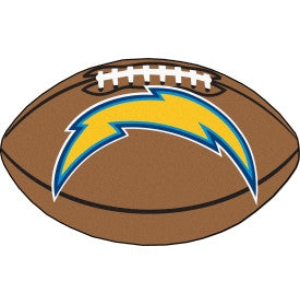 San Diego Chargers football shaped floor mat - Sports Nut Emporium