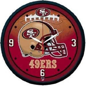 San Fransisco 49ers wall clock - Sports Nut Emporium