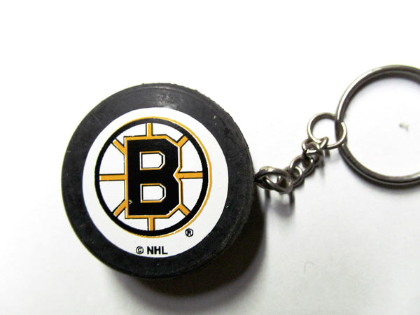 Boston Bruins Hockey Puck Keychain
