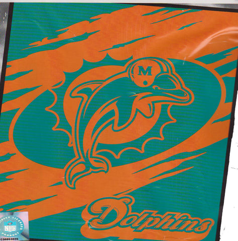 Miami Dolphins 60x50 Flash Collection throw Blanket - Sports Nut Emporium