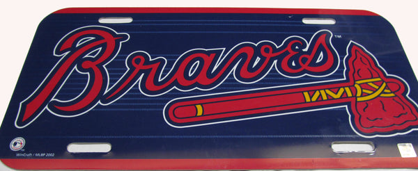 Atlanta Braves license plate - Sports Nut Emporium