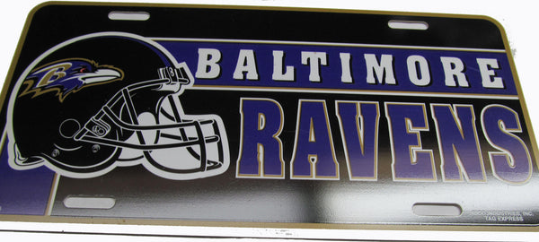 Baltimore Ravens license Plate - Sports Nut Emporium