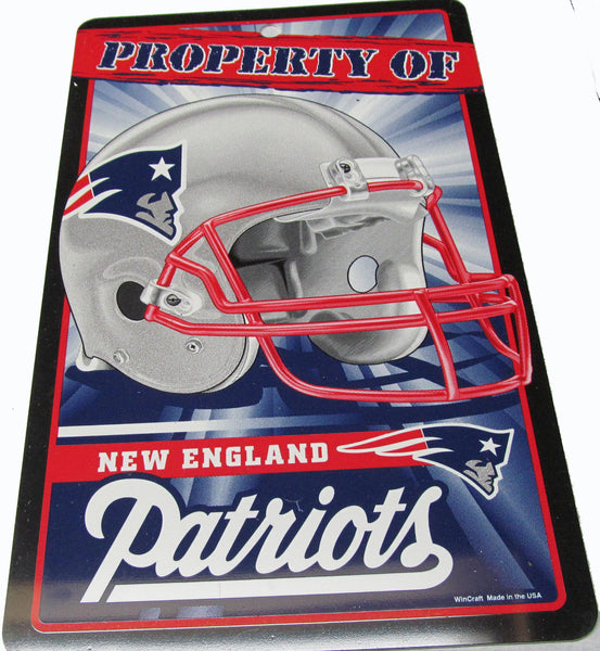 New England Patriots property of  Patriots sign - Sports Nut Emporium
