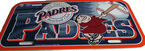 San Diego Padres license plate - Sports Nut Emporium